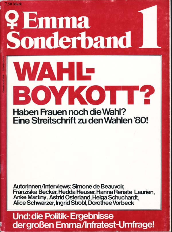 Sonderband Wahlboykott, 1980