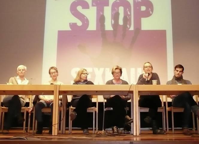 Susanne Riegler, Ulrike Maier, Sabine Constabel, Ingeborg Kraus, Jana Koch-Krawczak & Tobias Aiff (v. li.).