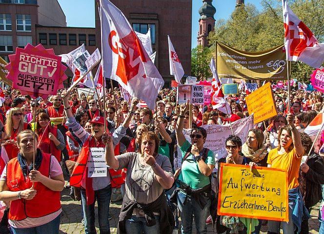 Erzieherinnen-Demo in Mainz. © Franz Ferdinand Photography/ CC BY-NC 2.0