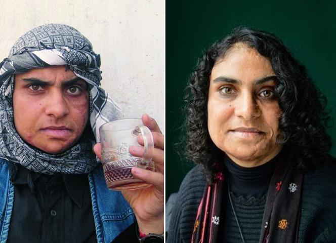 Nadia Ghulam früher in Afghanistan (links) und heute.