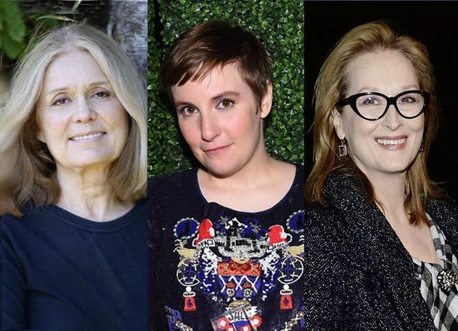 Gloria Steinem, Lena Dunham und Meryl Streep gegen Prostitution.