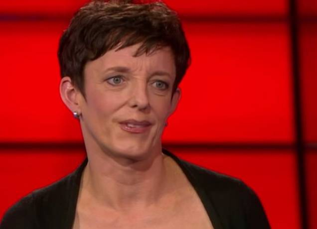 """Johanna Weber, Sprecherin des """"Berufsverbandes"""", hier in der Sat1-Sendung EinsgegenEins."""