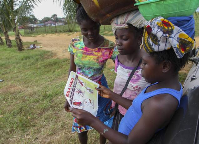 Mädchen in Liberia,