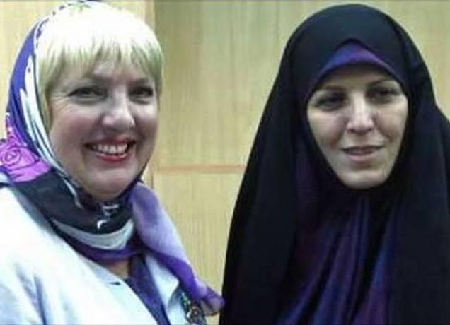 Claudia Roth während ihres Besuchs in Iran.