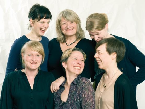 Von links: Katrin (Bloggerin), Alice (EMMA), Stefanie (Missy), Alexandra & Chantal (EMMA), Chris (Missy).