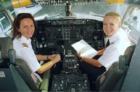 Cornelia Dössel und Susanne Hertneck, zwei von 400 deutschen Berufspilotinnen.