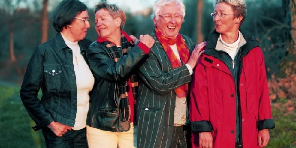 Lesbisch Mädchen Ältere Junges Frauen Lesben im