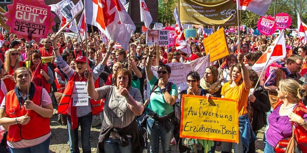 Streik Der Erzieherinnen