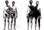 Übermalung - Bildfolge von Gabriele Stötzer 1982