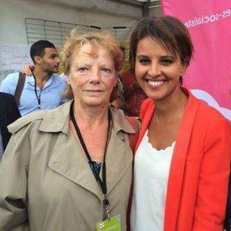 Rosen Hicher und Ministerin Najat Vallaud-Belkacem.